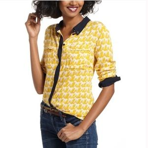 Maeve Yellow Horse Bagatelle Button Down Blouse